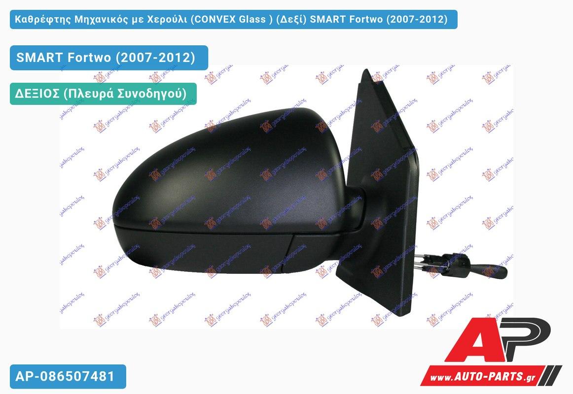 Καθρέφτης Μηχανικός με Χερούλι (CONVEX Glass ) (Δεξί) SMART Fortwo (2007-2012)