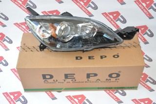 Φανάρι Μπροστινό Δεξί Ηλεκτρικό 5Π (Ευρωπαϊκό) (DEPO) MAZDA 3 (bk) [Hatchback] (2004-2008)