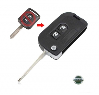 Nissan Qashqai, Micra, Almera  Μετατροπή Κλειδιού από Απλό σε Πτυσσόμενο, 2 κουμπιά (NSN14) - NISSAN Almera (N16) [5θυρο,Sedan] (2000-2006)