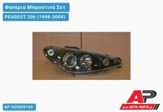 Ανταλλακτικά μπροστινά φανάρια / φώτα (set) - PEUGEOT 206 (1998-2009)