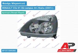 Ανταλλακτικό μπροστινό φανάρι (φως) - RENAULT Clio 01-06/campus 04-/thalia (2001+) - Αριστερό (πλευρά οδηγού)
