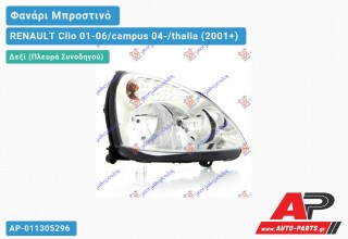 Ανταλλακτικό μπροστινό φανάρι (φως) - RENAULT Clio 01-06/campus 04-/thalia (2001+) - Δεξί (πλευρά συνοδηγού)