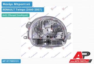 Ανταλλακτικό μπροστινό φανάρι (φως) - RENAULT Twingo (2000-2007) - Δεξί (πλευρά συνοδηγού)