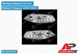 Ανταλλακτικά μπροστινά φανάρια / φώτα (set) - RENAULT Megane [Sedan,Hatchback,Liftback] (2002-2005)