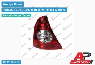 Ανταλλακτικό πίσω φανάρι Αριστερό (Πλευρά Οδηγού) για RENAULT Clio 01-06/campus 04-/thalia (2001+)
