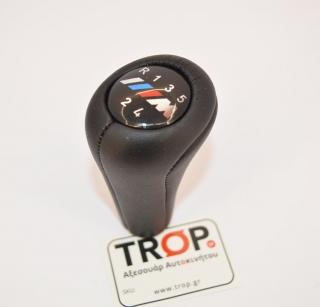 Δερμάτινος Λεβιές Ταχυτήτων συμβατός με BMW τύπου M Power - Φωτογραφία τραβηγμένη από TROP.gr